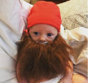 bearded baby halloween